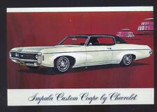 1969 CHEVROLET IMPALA CAR DEALER ADVERTISING POSTCARD '69 CHEVY IMPALA