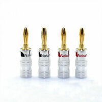 12pcs Nakamichi Speaker banana plug Audio Jack connector 24K Gold plated