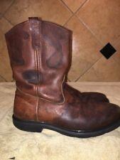 Red Wing Pecos Brown Leather Work Boots Sz 13 B