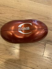NEW JUST CAVALLI eye glasses sunglass case orange AUTHENTIC flip hard magnetic