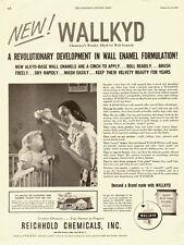 1953 vintage AD, Wallkyd, Alkyd Wall Enamel Paint, Reichold Chemicals - 011814