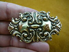 CB-Other-4 Ornate scrolled repro brass Barrettes French barrette