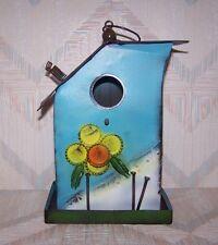 Bird Folk Art Birdhouse Regal Art Folk Birdhouse Blue