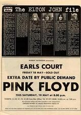 Elton John Band File MM3 Pink Floyd Earls Court show advert 1973