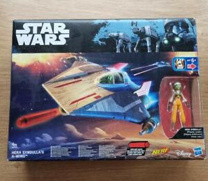Star Wars The Rebels Hera Syndulla & A wing Star Fighter Action figure. New.