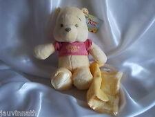 Doudou Winnie l'ours, couverture jaune, jaune/blanc, Disney, Nicotoy