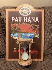 KONA Brewing Co. Hawaii PAU HANA WOODEN Beer Sign Sand 60 Minute Hour Glass RARE