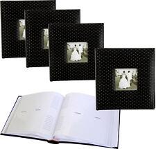 4x Black Diamond 6x4 slip-in 200 photo albums with window * Four Pack