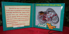Coca Cola Die-Cast Bicycle Miniatue Bottle Mini Soda Pedal Delivery Bike