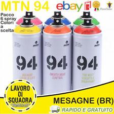 MTN MONTANA 94 SPRAY PAINT CAN WRITING 6 PACK COLORI A SCELTA GRAFFITI