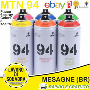 MTN MONTANA 94 SPRAY PAINT CAN WRITING 6 PACK COLORI A SCELTA GRAFFITI