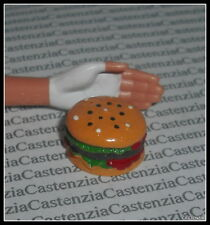 ACCESSORY FOOD BARBIE DOLL  SIZE MINIATURE HAMBURGER SET OF 2  FOR DIORAMA