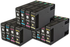 12 T702 non-OEM Ink Cartridges For Epson WorkForce Pro WP-4095DN WP-4515DN