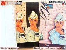 VINTAGE Stationery 1980 Gerry The Cat Verkerke Netherlands PVC Organizer Notes