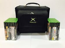 XBOX ORIGINAL WITH TRAVEL/CARRYING BAG - CONSOLE, 2 CONTROLLERS & 13 GAME BUNDLE
