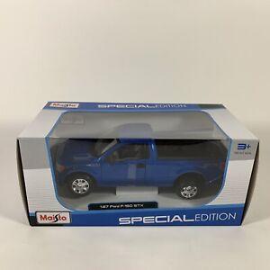Maisto Ford F-150 STX Pickup Truck Diecast Car, Special Edition, Blue 1:27