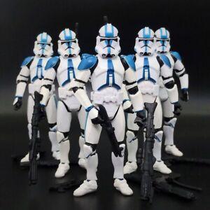 "Lot of 5 SW Republic 501-st Legion Blue White Trooper 3.75"" Loose Action Figure"