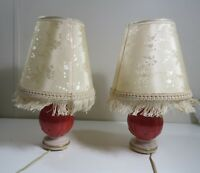Vintage Aladdin Alacite Boudoir Table Lamps w/ Night Light - Shades Included