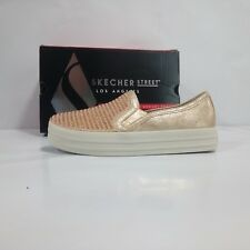 Skechers Double Up-shiny Dancer Sneaker Infilare Donna Oro (rose Gold)