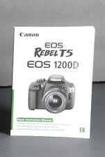 Canon Eos T5 / 1200D Genuine Camera Instruction Book / Manual / User Guide