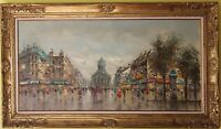 Large original Oil Painting On Canvas,Listed Artist Antonio De Vity(1901-1993)