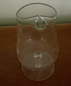 RETRO CLEAR GLASS COCKTAIL JUG