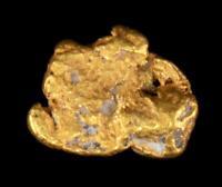 Matrix Sponge Genuine Calif. Alaska Natural Gold Nugget .49gr 7.09mm x 6.17mm