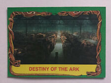 Indiana Jones Raiders Of The Lost Ark Topps 1981 Card 87 Destiny Of The Ark