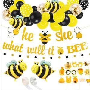 What Will It Bee Gender Reveal Party Decorations Balloon Kit Arch Baby Showers