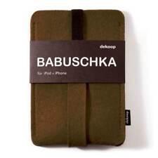 dekoop Handytasche babuschka für iPhone, iPod (Generation 1-4) Filz braun