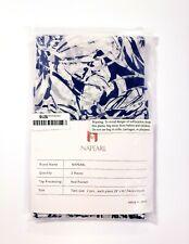 """Napearl Organza Sheer Curtain Rod Pocket Tier Pair Blue White Floral 29x36"""" Each"""
