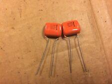 2 NOS Vintage Sprague Orange Drop .22 uf 100v Capacitors Guitar Amp Caps (Qty)