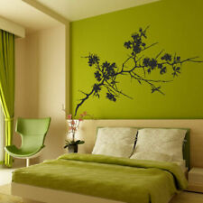 I203 Wall Decal Sticker tree branch cherry blossom spikes leaves nature spring