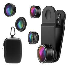 5-In-1 2*Zoom Telephoto+198° Fisheye+0.63*Angle+15*Macro Phone Camera Lens Kit