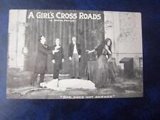 A Girl's Cross Roads    - Music Hall Theatrical History Radio Film