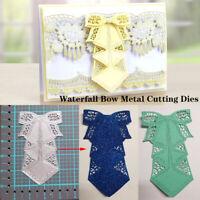 Waterfall Bow Metal Cutting Dies Scrapbooking Embossing Paper Card DIY Craft hi