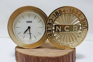 NCR DESK CLOCK CELEBRATING THE FUTURE 1884-1984