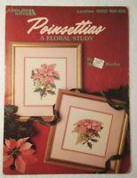 Leisure Arts - POINSETTIAS by Merilyn Rocks - 1990 - Cross Stitch Leaflet 900