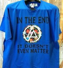 "Womans T-Shirt size 2X Blue ""In the End it doesn't even matter"" Flowers"