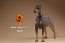 Realistic DobermanPinscher Sitting Dog Life Like Figurine Statue Home/Garder NEW