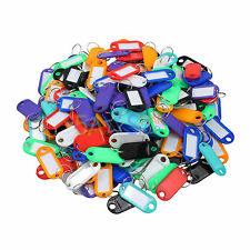 200 Key ID Labels Tags with Key Ring Split Rings For Home Motel Company Facility