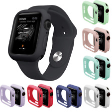 Silicone TPU Bumper Frame Protective Case Cover For Apple Watch Series 4 5 6