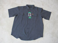NEW Orvis Button Up Shirt Adult Extra Large Gray Tech Fishing Fly Fisherman Mens