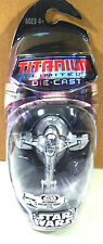 Star Wars Titanium Limited Die-Cast BOBA FETT SLAVE 1 SILVER 2006 moc