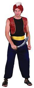 Arabian Bandit One Size Costume Adult Fancy Dress Alladin Thief