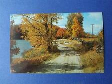 POSTCARD GREETINGS FROM BURKS FALLS ONTARIO CANADA 4 CENT STAMPED