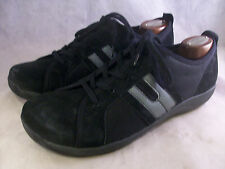 DANSKO WOMEN'S HEIDI LACE-UP SNEAKERS BLACK SUEDE 41 11 MEDIUM $110