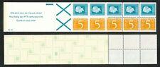 Nederland boekje 19 b postfris met telblok; witte baan door het onderste kruis