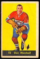 1960 61 PARKHURST HOCKEY #42 DON MARSHALL VG-EX MONTREAL CANADIENS CARD