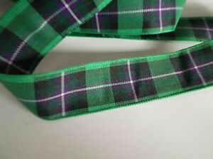 Tartan Ribbon for Hibernian Football Club in two widths & Odd lengths
